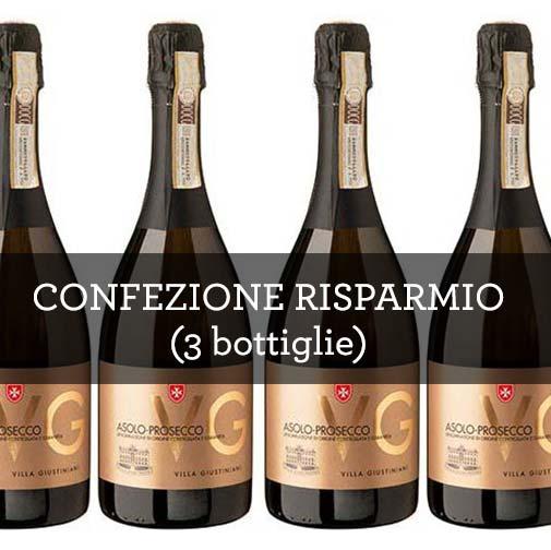 """Colli Asolani Prosecco Brut DOCG """"VG"""" (3 bottiglie)"""