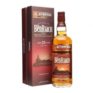"Peated Single Malt Scotch Whisky ""Authenticus"" 25 years old - The BenRiach"