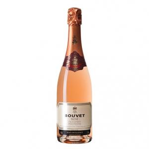 """Vin de France Mousseux Metode Traditionelle Brut Rosé """"Excellence"""" - Bouvet Ladubay"""