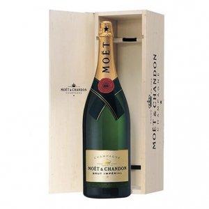 """Champagne Brut """"Moët Impérial"""" Jéroboam - Moët & Chandon (cofanetto di legno)"""