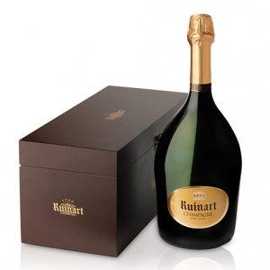 """Champagne Brut """"R de Ruinart"""" Jéroboam - Ruinart (cassetta di legno)"""