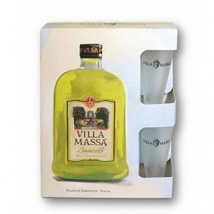 """Limoncello """"Piano di Sorrento"""" - Villa Massa (confezione 2 bicchieri)"""
