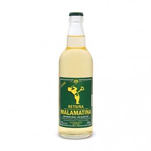 Greek Wine Retsina - Malamatina (tappo a corona - 0.5l)
