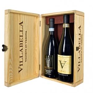 """Valpolicella Ripasso Classico Superiore DOC 2015 + Amarone della Valpolicella Classico DOC """"∀"""" 2010 - Villabella (cassetta legno)"""