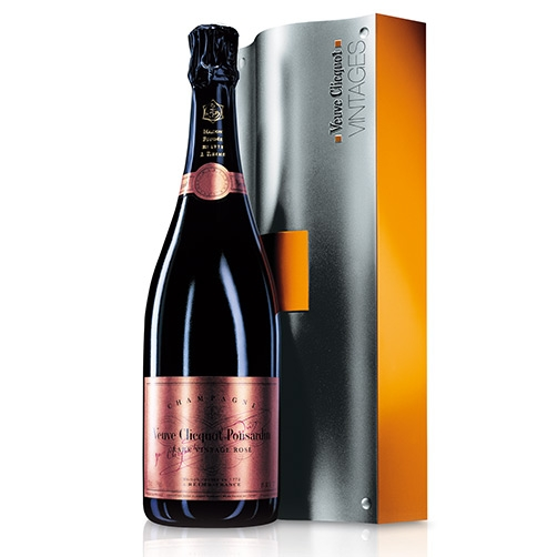 champagne brut ros rare vintage 1985 veuve clicquot ponsardin coffret in metallo. Black Bedroom Furniture Sets. Home Design Ideas