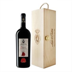 """Salice Salentino Rosso Riserva DOC """"50° Vendemmia"""" 2015 Magnum - Leone de Castris (cassetta di legno)"""
