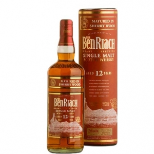 """Single Malt Scotch Whisky """"Sherry Wood"""" 12 years old - The BenRiach (0.7l)"""