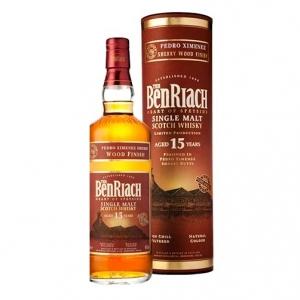 "Single Malt Scotch Whisky ""Pedro Ximenez Sherry Wood Finish"" 15 years old - The BenRiach (0.7l)"