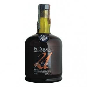 """Finest Demerara Rum 21 years old """"Special Reserve"""" - El Dorado"""