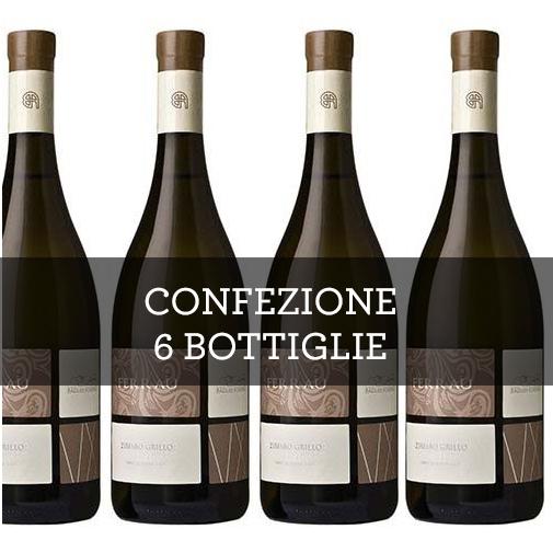 """Terre Siciliane Zibibbo Grillo IGP """"Ferraù"""" 2014 (6 bottiglie)"""