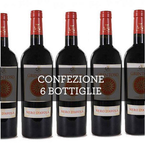 "Terre Siciliane Nero dAvola IGT ""Grintoso"" 2014 (6 bottiglie)"
