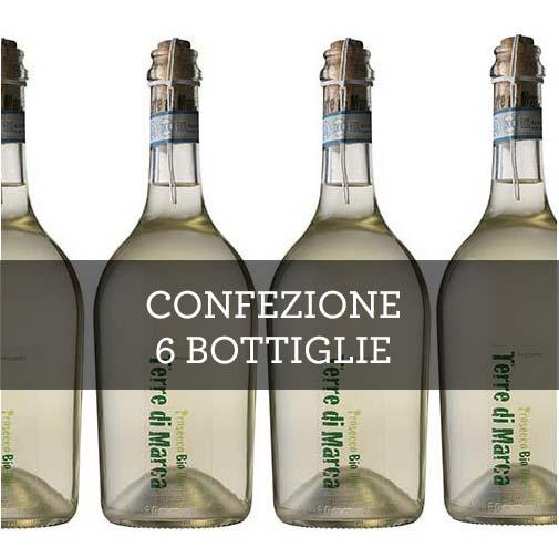 """Prosecco Bio Treviso Frizzante DOC """"Terre di Marca"""" 2015 (6 bottiglie)"""