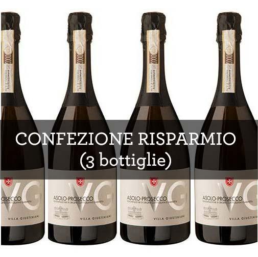 """Colli Asolani Prosecco Millesimato DOCG """"VG"""" 2014 (3 bottiglie)"""