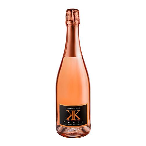 """Vino Spumante di Qualità Metodo Classico Dosaggio Zero Rosé """"KK"""" Magnum"""