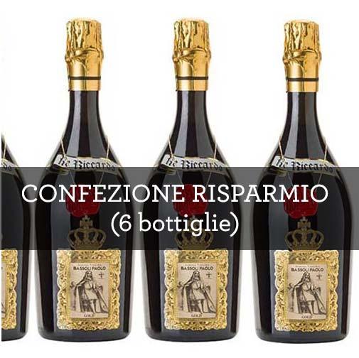 """Emilia Lambrusco Rosso Frizzante IGT """"Re Riccardo Gold"""" (6 bottiglie)"""